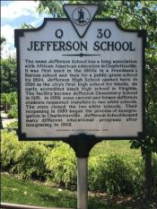 Jefferson School historical sign